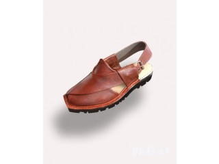 Trendy Quetta Hand Crafted Norozi Plain Chappal with Double Sole